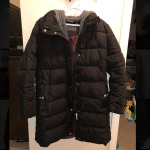 Tommy Hilfiger Mid length Layered Puffer Coat